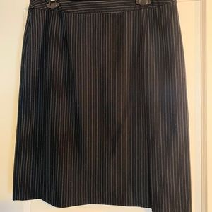 Black Pencil Skirt with White Pinstripes